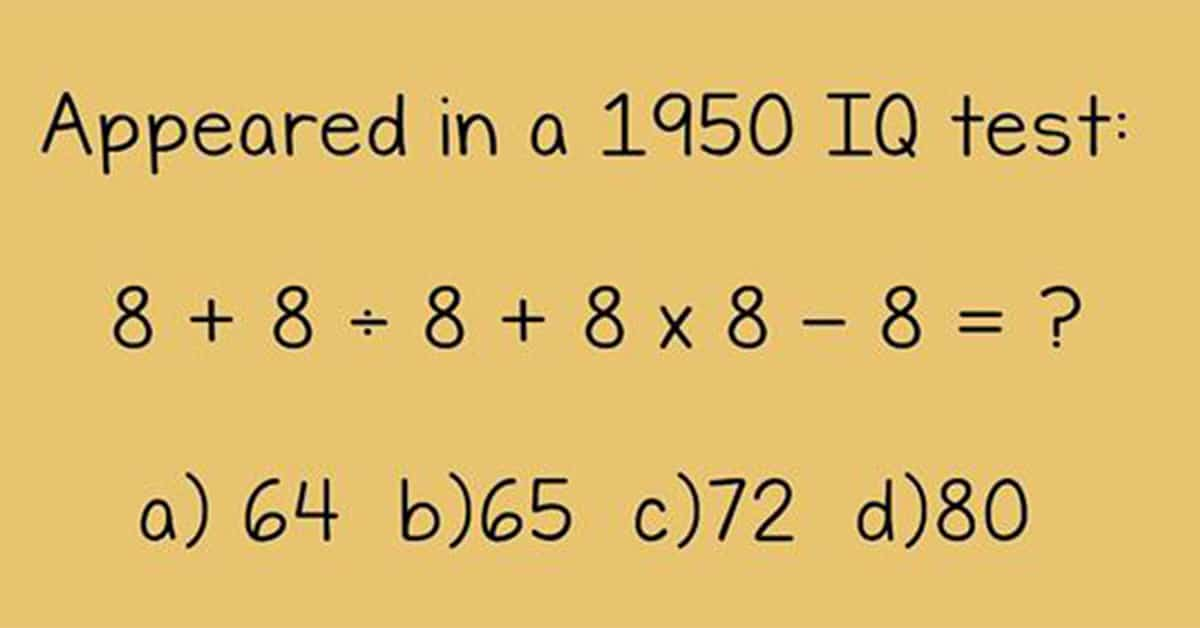 These 5 Questions Appeared In A 1950 IQ Test. Can You ...
